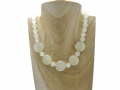 Chunky Hint of Green Bowenite Jade Coins & Sterling Silver Necklace | Silver Sensations